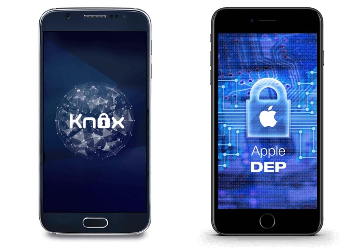 MDM zintegrowany został z rozwiązaniami Samsung KNOX, Samsung E-FOTA i Apple DEP