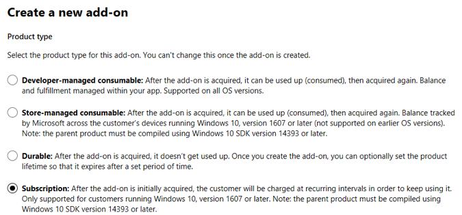 aplikacje abonament Windows 10