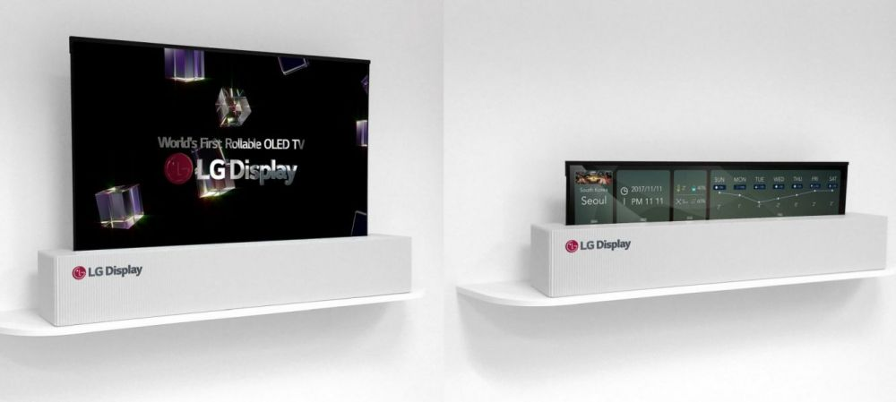 LG zwijany telewizor OLED