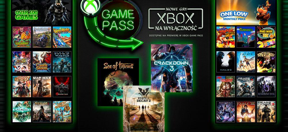 Xbox One gry za darmo Xbox Game Pass