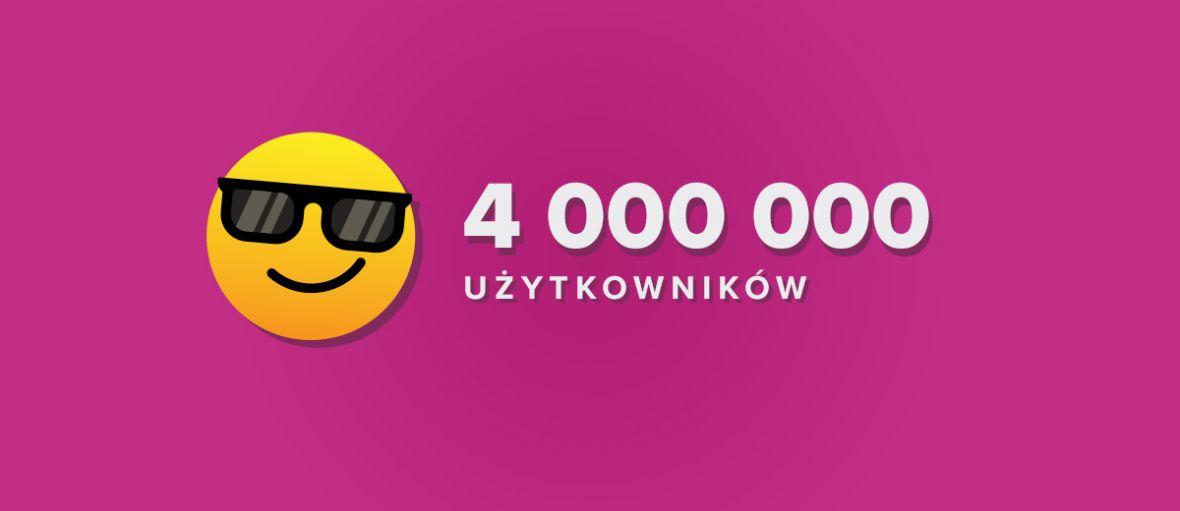 4 miliony użytkowników miesięcznie na Spider's Web!