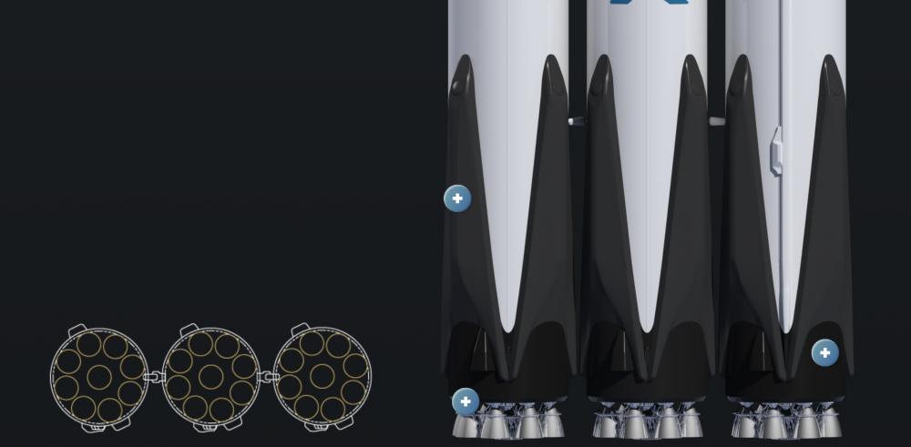 Silniki Falcona Heavy