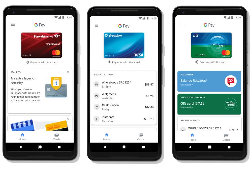google pay - telefony z androidem