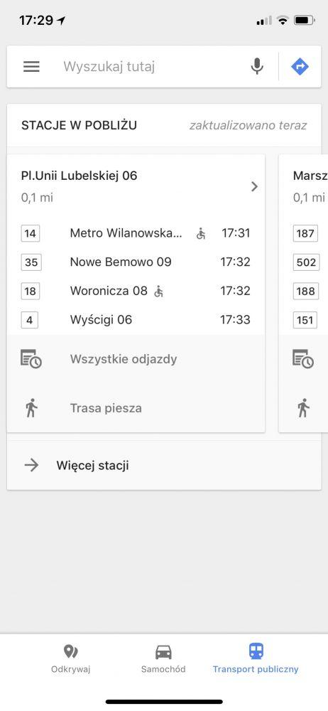 mapy google maps iphone ios odkrywaj samochod transport 1