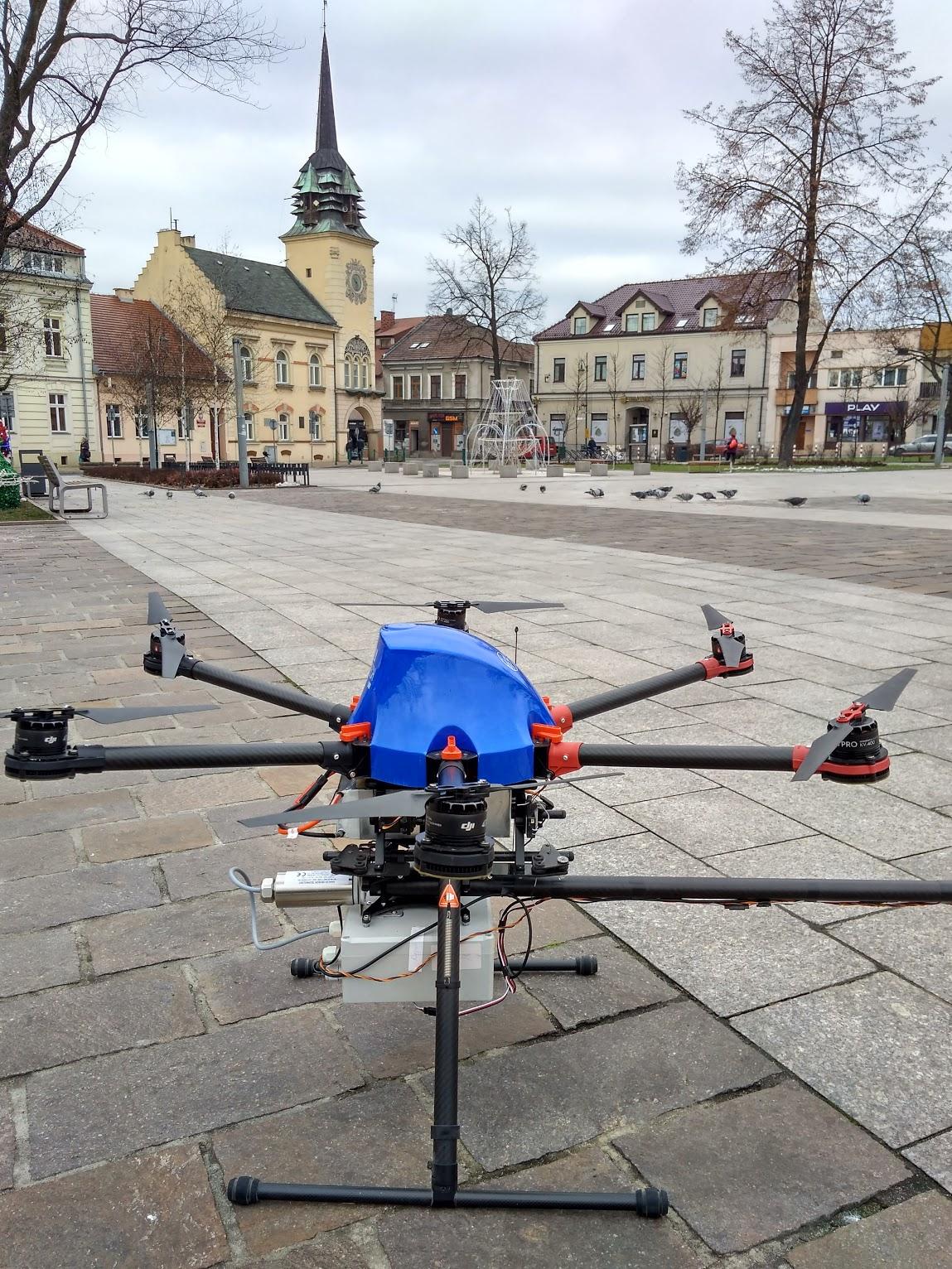 Dron w mieście Skawina będzie walczył ze smogiem