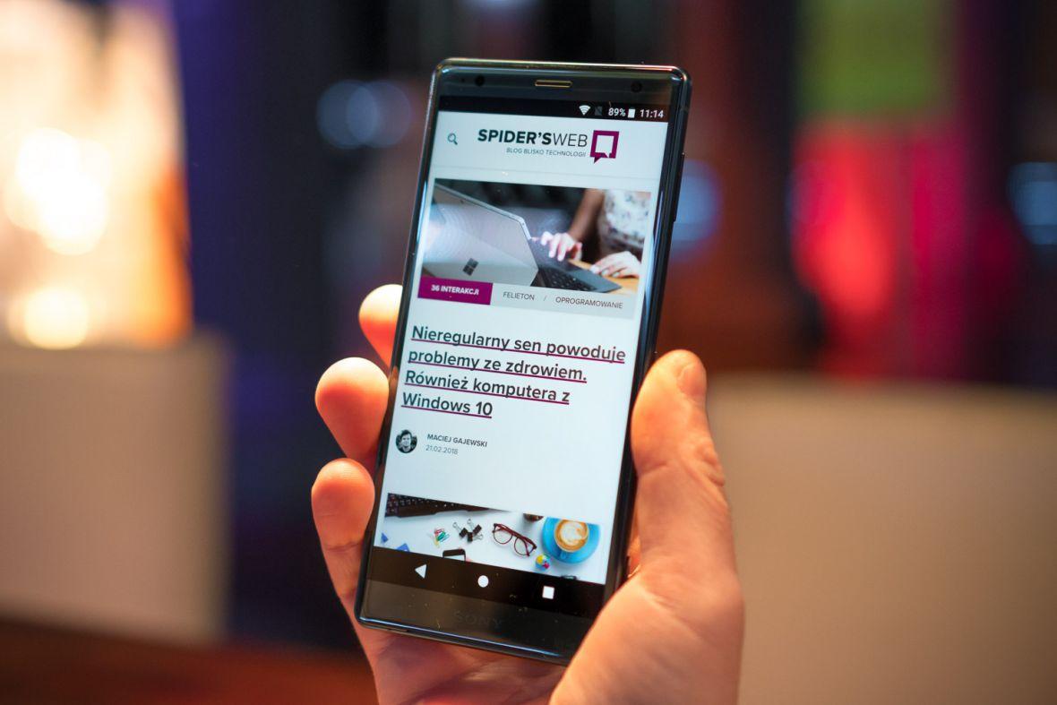 Sony Xperia XZ2 już w naszych rękach – pierwsze wrażenia Spider's Web