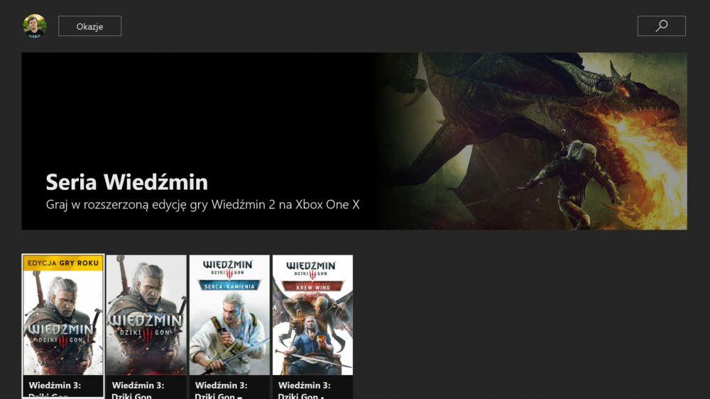 Wiedźmin 2 Xbox One X
