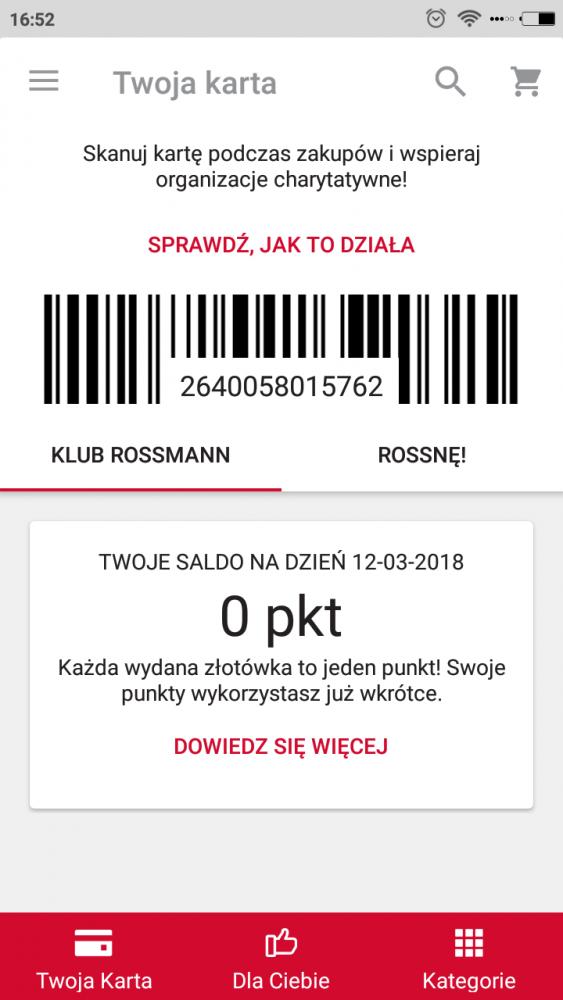 Aplikacja Rossmann (Android, iPhone iOS) promocje, karta, rabaty