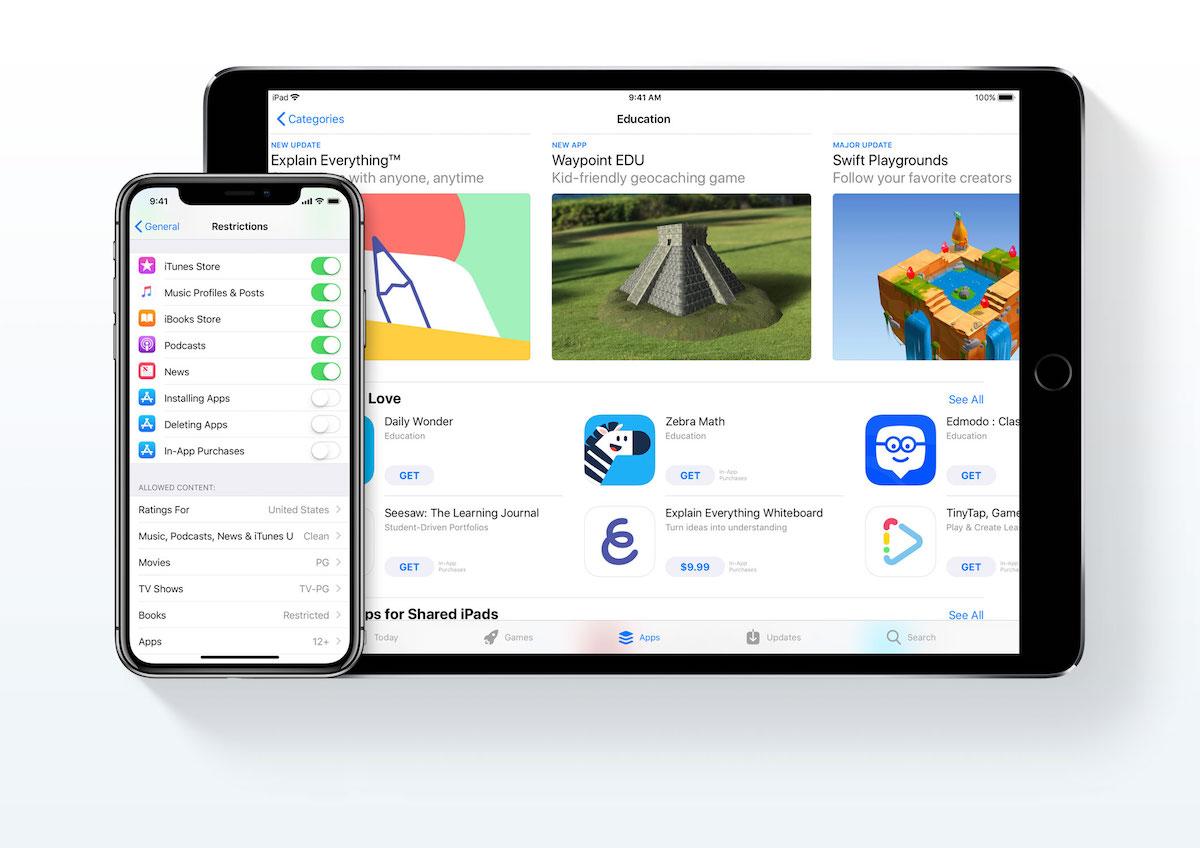 apple iphone dla dziecka icloud family sharing kontrola rodzicielska app store 2