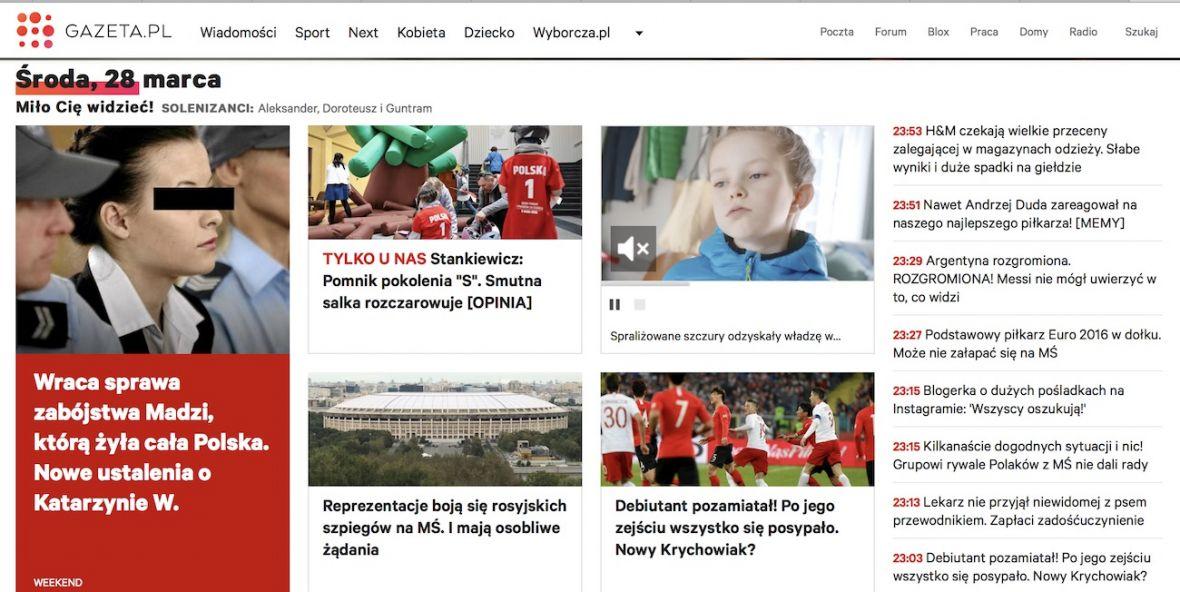 Gazeta.pl ma nowy layout, choć pewnie nie wszyscy go zobaczycie