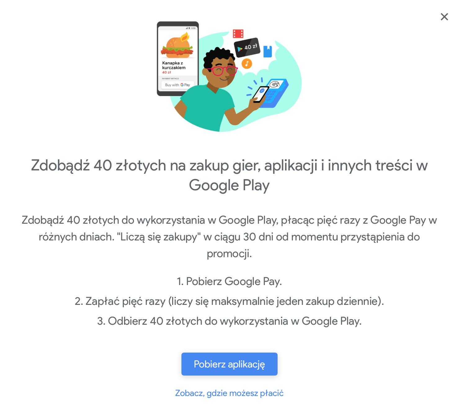 40 Zl Do Wydania Na Aplikacje W Google Play Swietna Promocja Google A