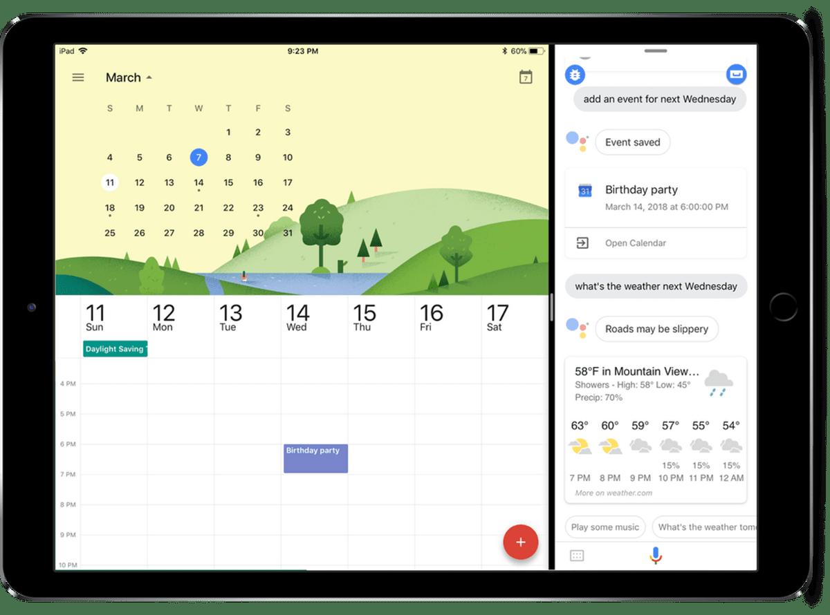Google Assistant na iPadzie