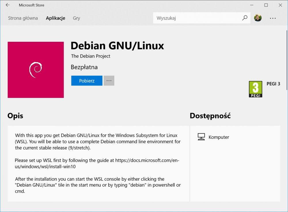 Windows 10 Linux Kali Linux Debian