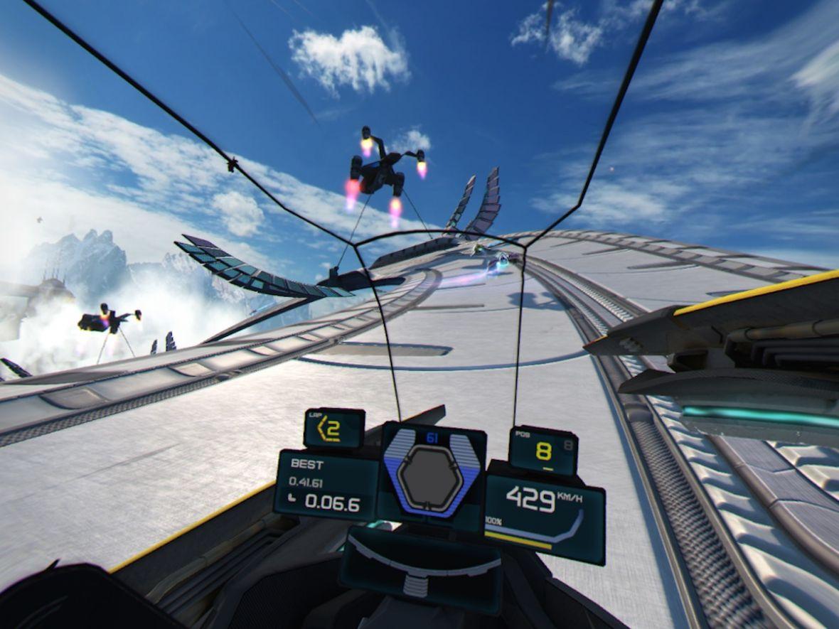 Czy błędnik wariuje podczas wyścigów w wirtualnej rzeczywistości? Wipeout Omega Collection w VR
