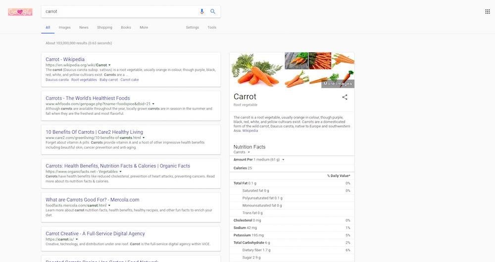 wyniki wyszukiwania google nowa wersja testy