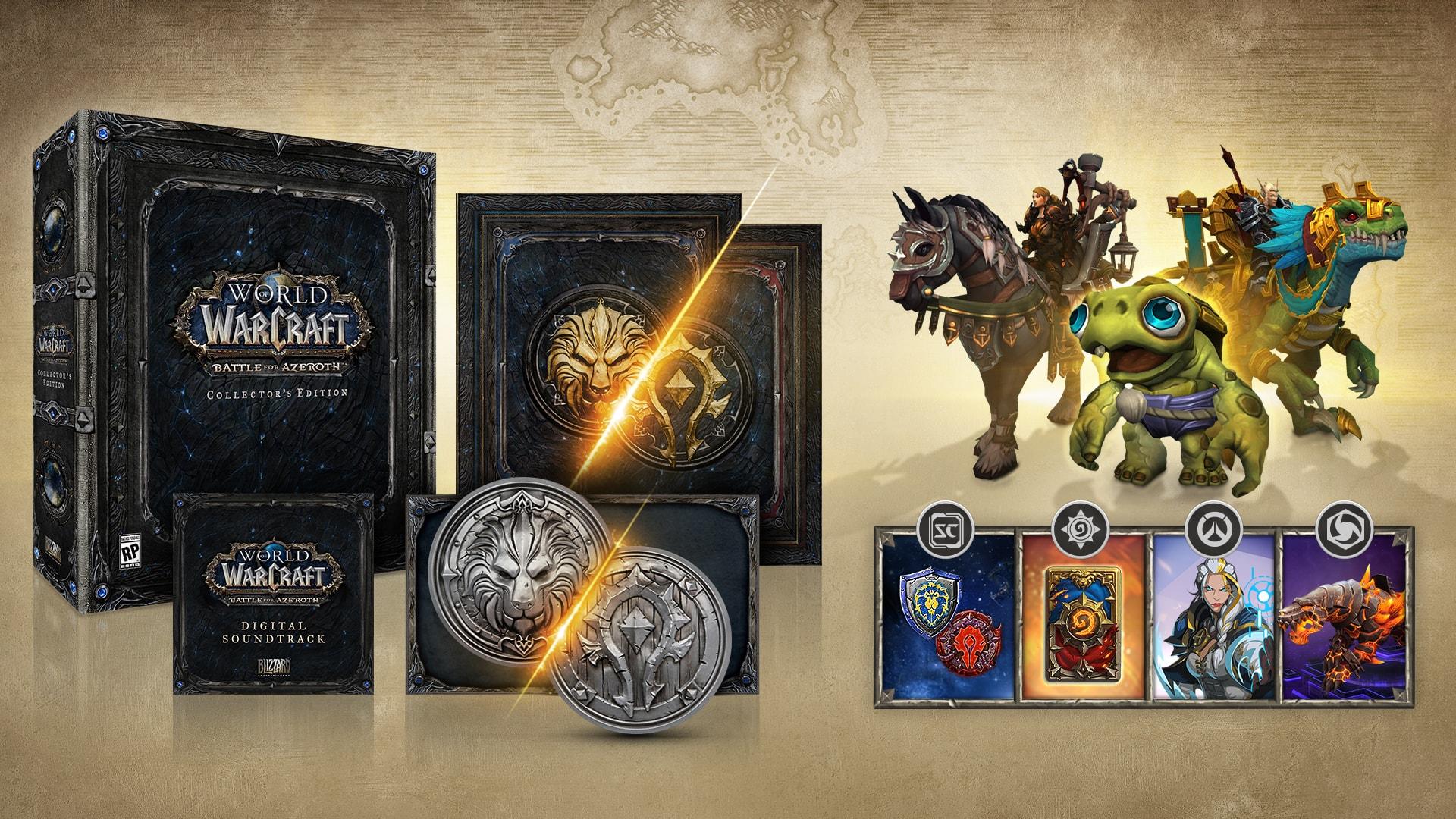 Znalezione obrazy dla zapytania World of Warcraft - Battle for Azeroth kolekcjonerska