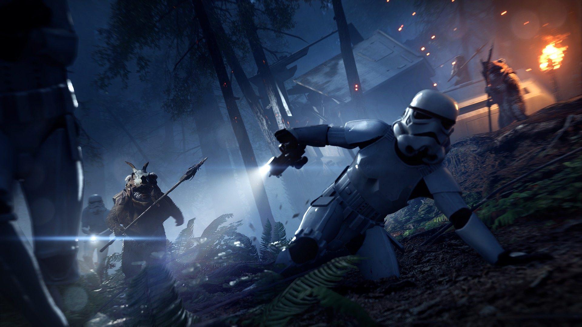 star wars battlefront 2 night on endor polowanie na ewoki