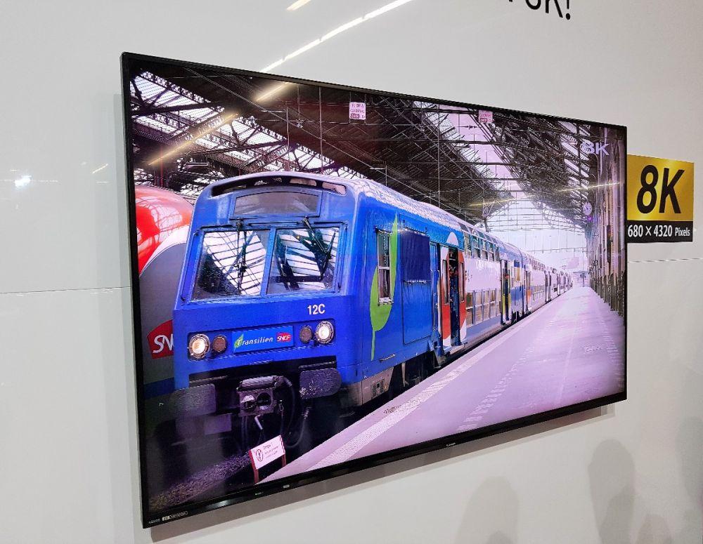 telewizor 8k sharp aquos electronics show