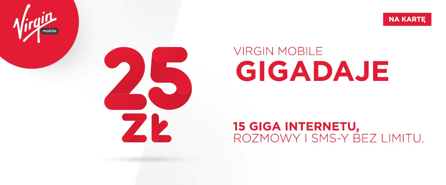 virgin mobile na karte prepaid gigadaje 25 zl 15 gb