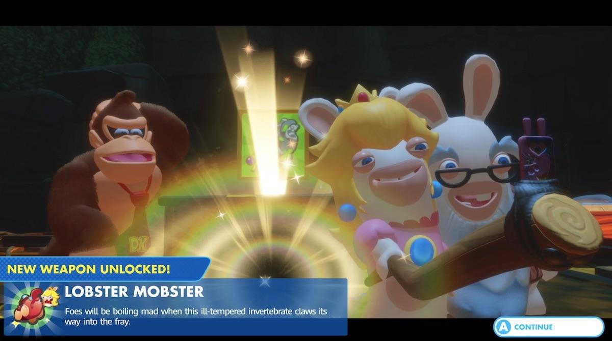 Mario Rabbids Kingdom Battle Donkey Kong Adventure screen Nintendo Switch