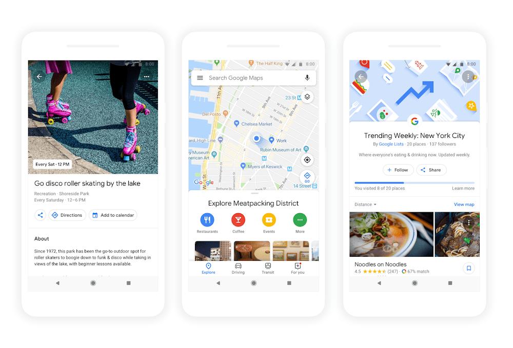 Google zarekomenduje miejsca i wydarzenia