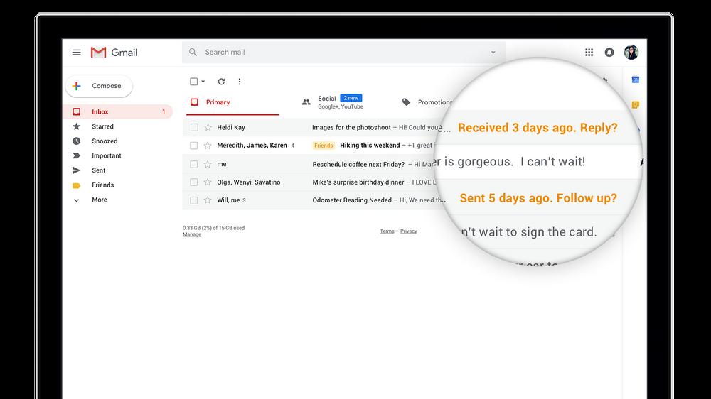 nowy Gmail przypomni o niewysłanych mailach