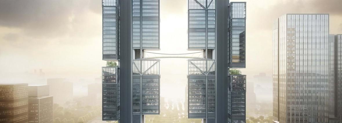 """Projektanci siedziby Apple stworzyli spektakularną siedzibę DJI – """"drone towers"""""""