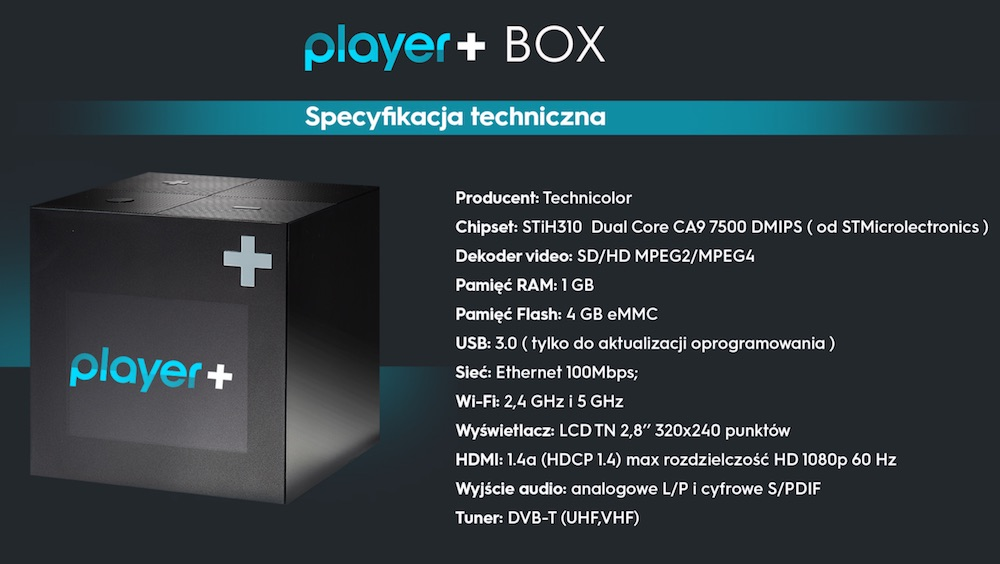 Player+ BOX dekoder
