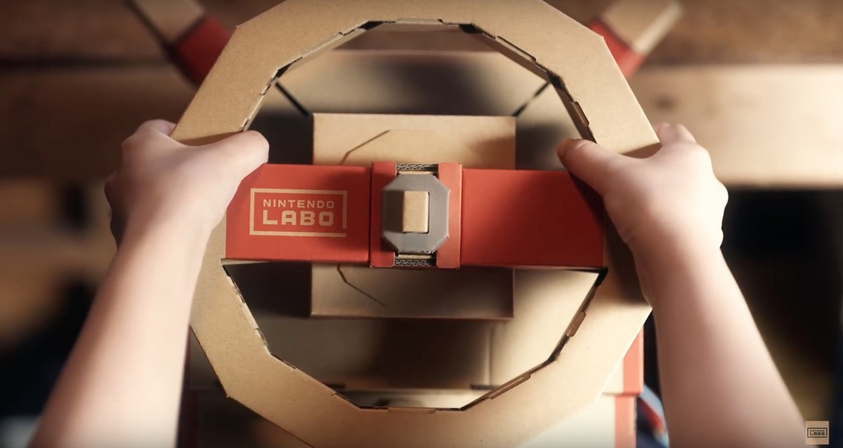 Za takie pomysły uwielbiam Wielkie N. Nowe Nintendo LABO to kierownica z wajchami, drążek i pedał gazu