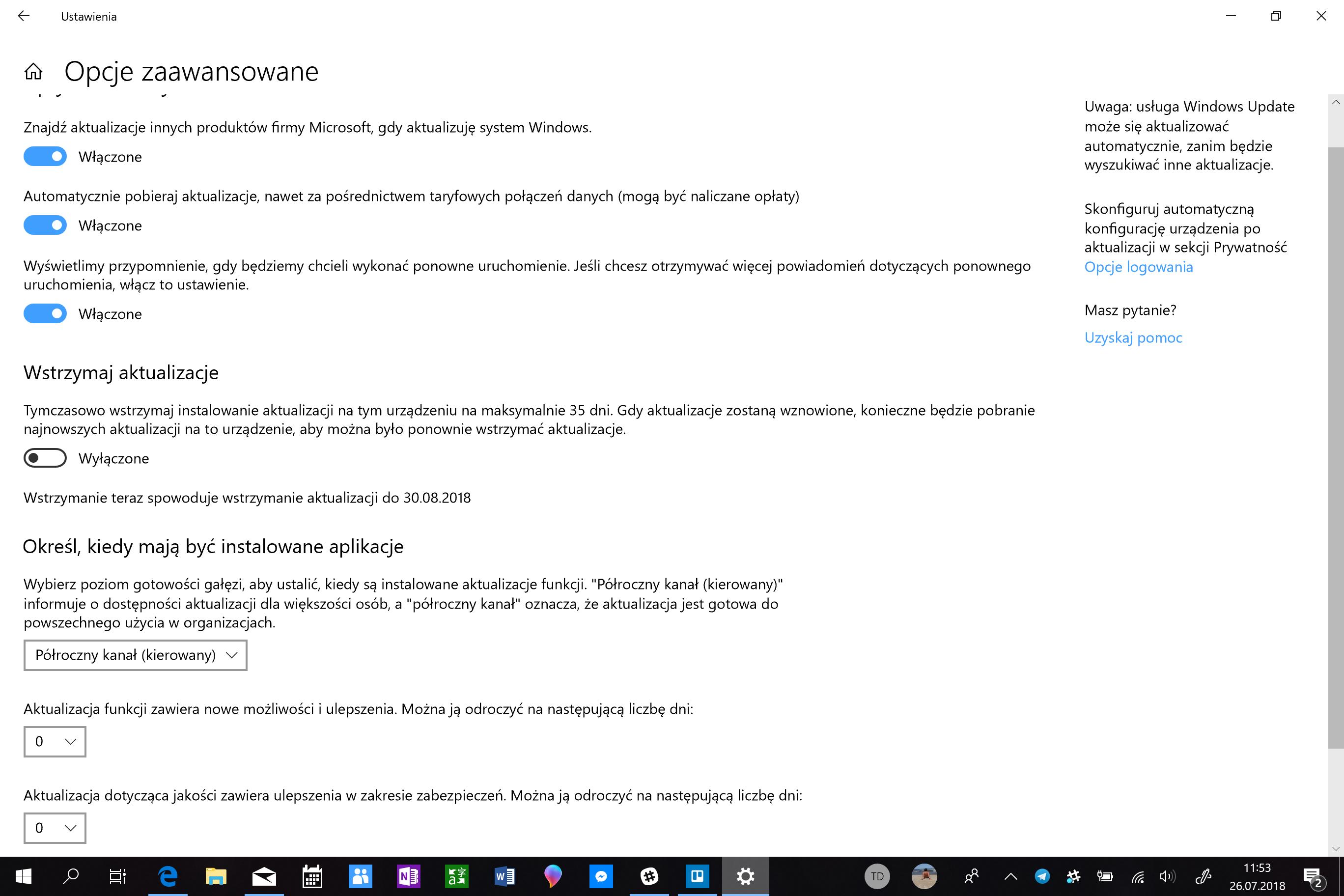 Zmiany w aktualizacji Windowsa