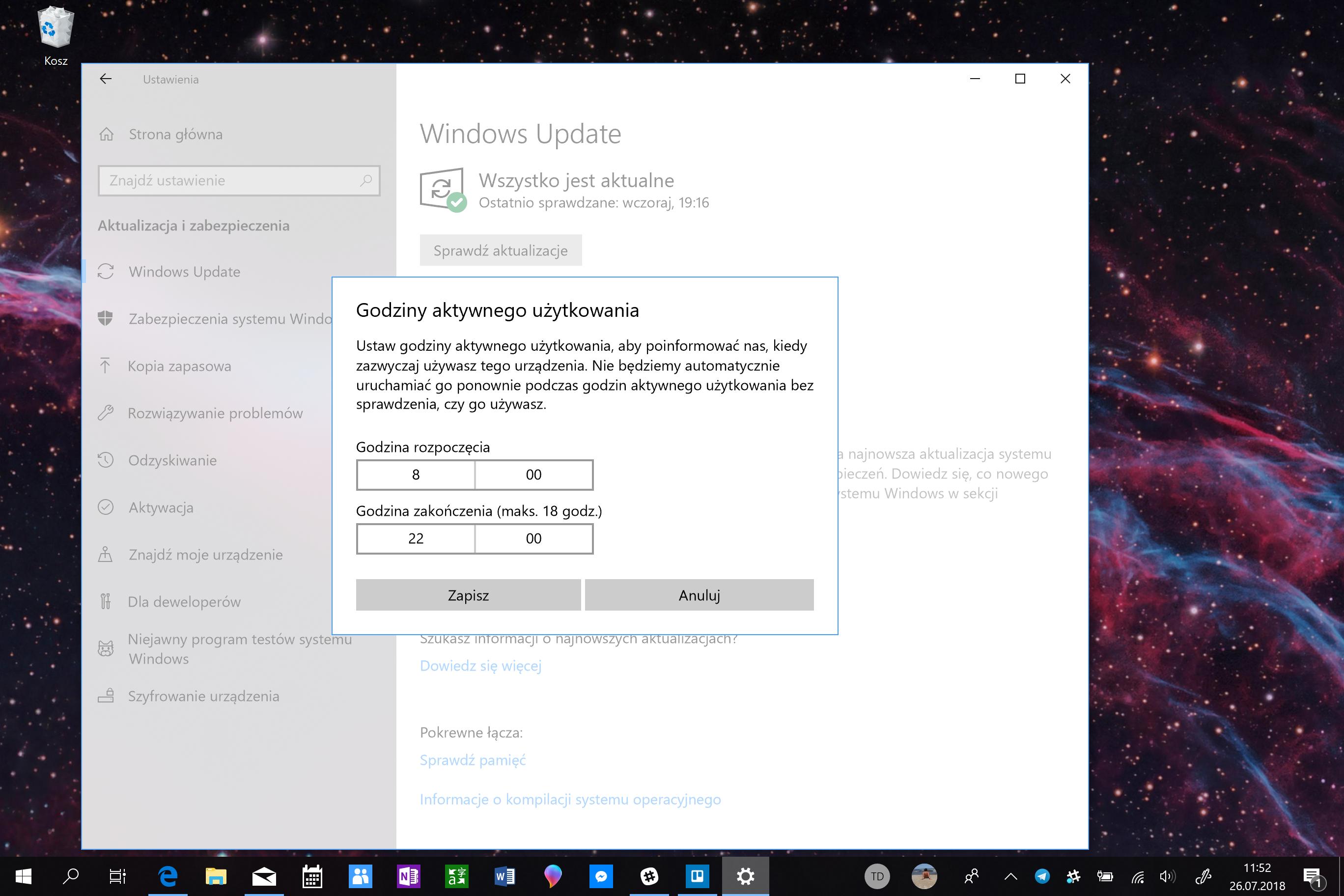 Zmiana w aktualizacji Windowsa