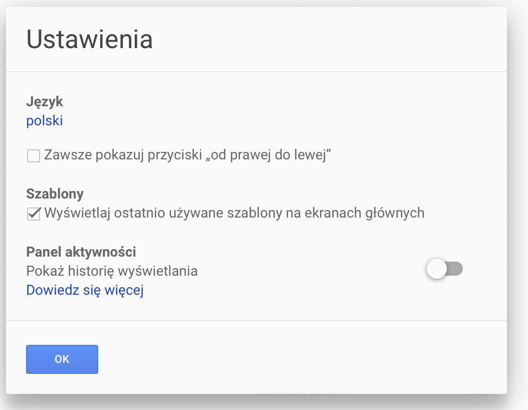 Dokumenty Google - szablony i wzory CV