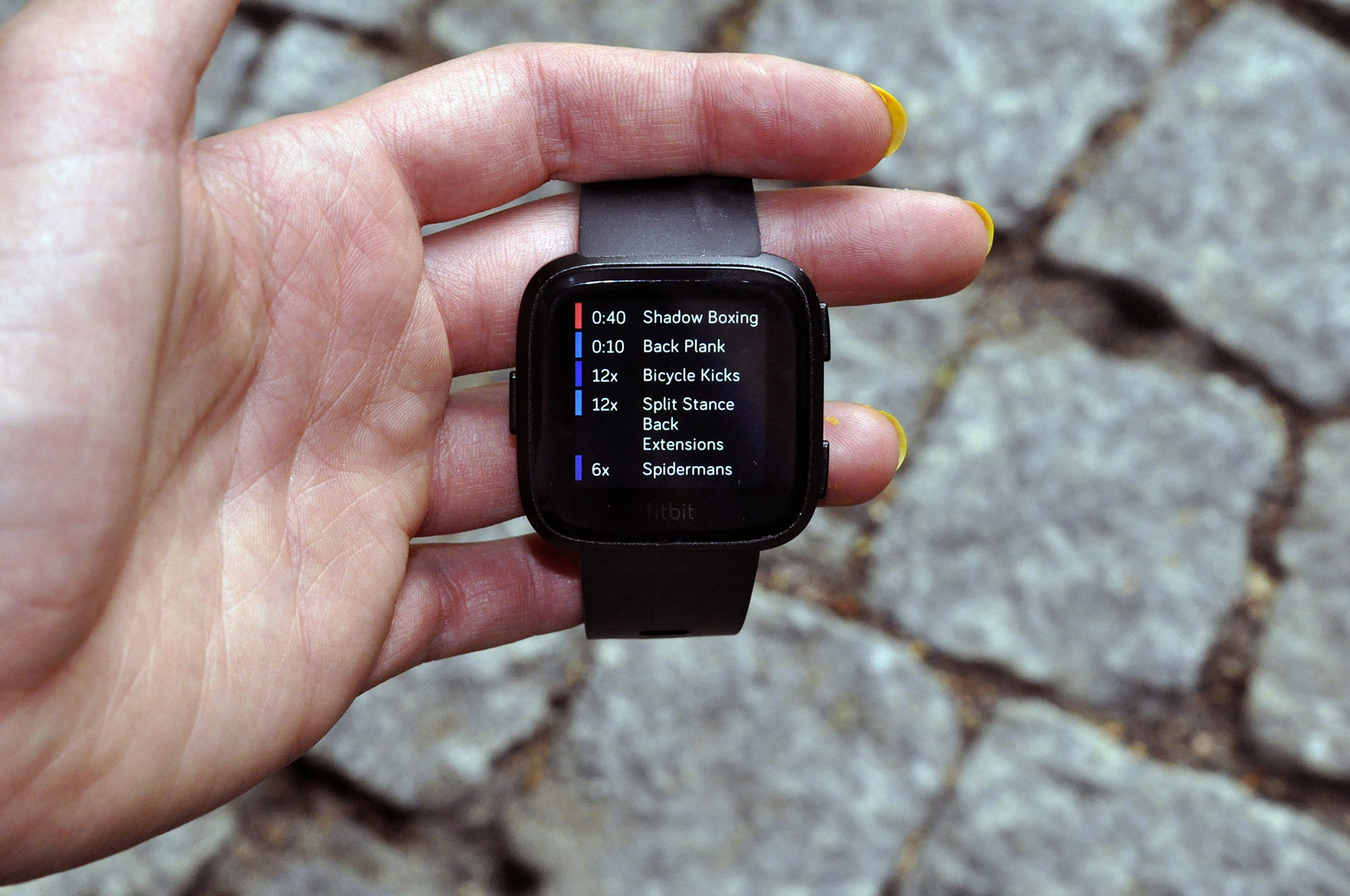 Fitbit Versa lista ćwiczeń