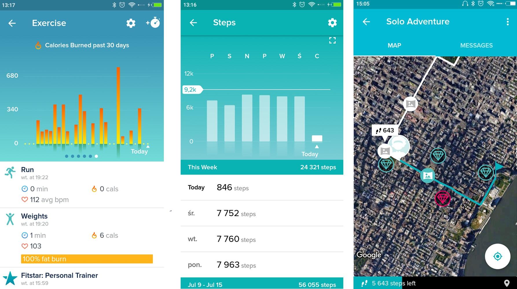 Fitbit Versa aplikacja