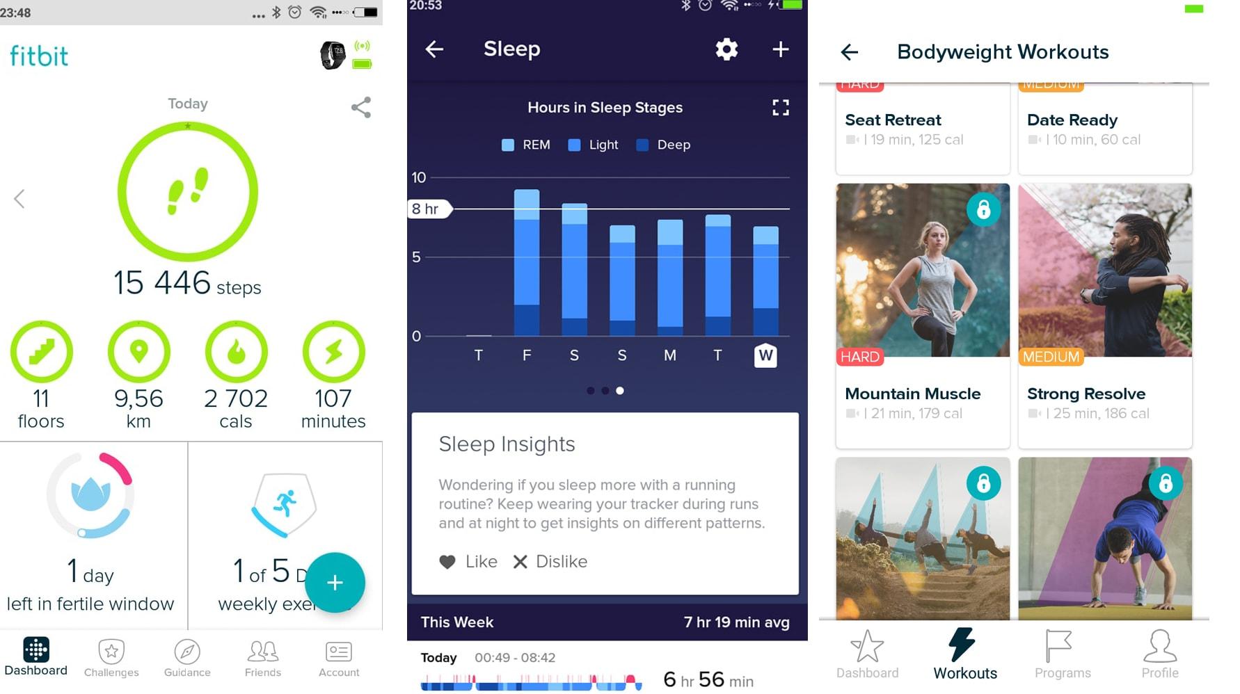 Fitbit Versa aplikacja 2