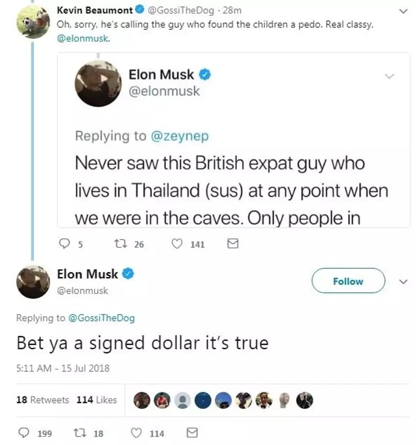 Elon Mysk tweet