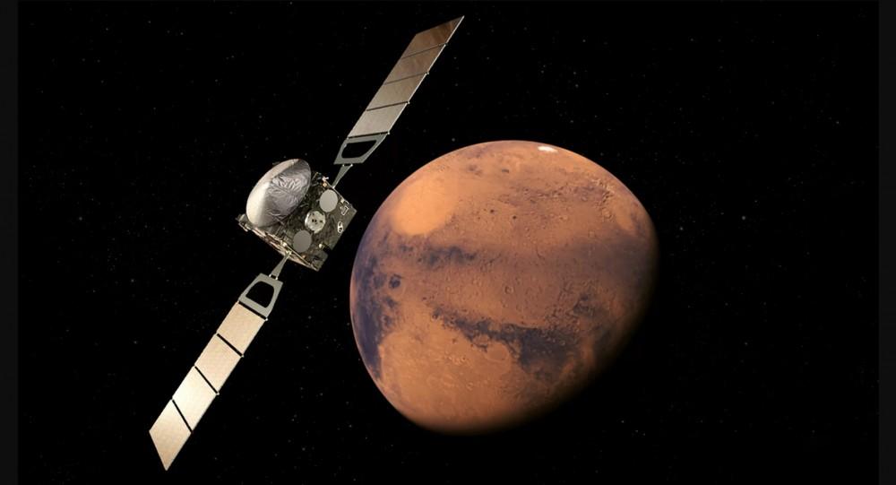Woda na marsie została odkryta dzięki włoskiemu urządzeniu MARSIS.