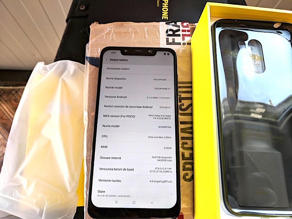 Xiaomi Pocophone F1 ekran