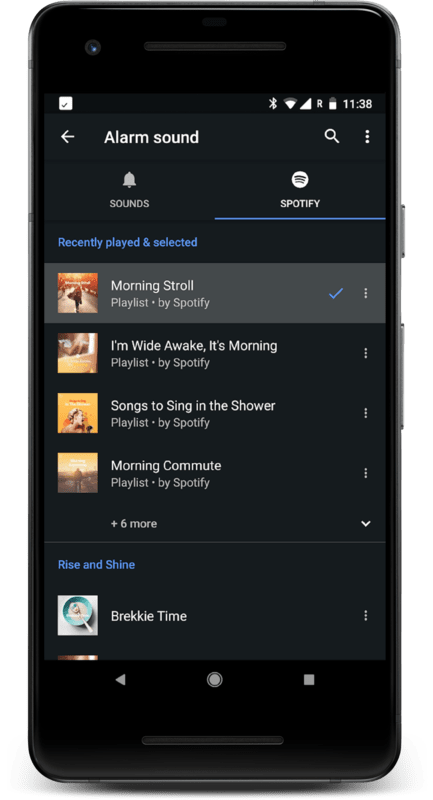 Spotify jako budzik