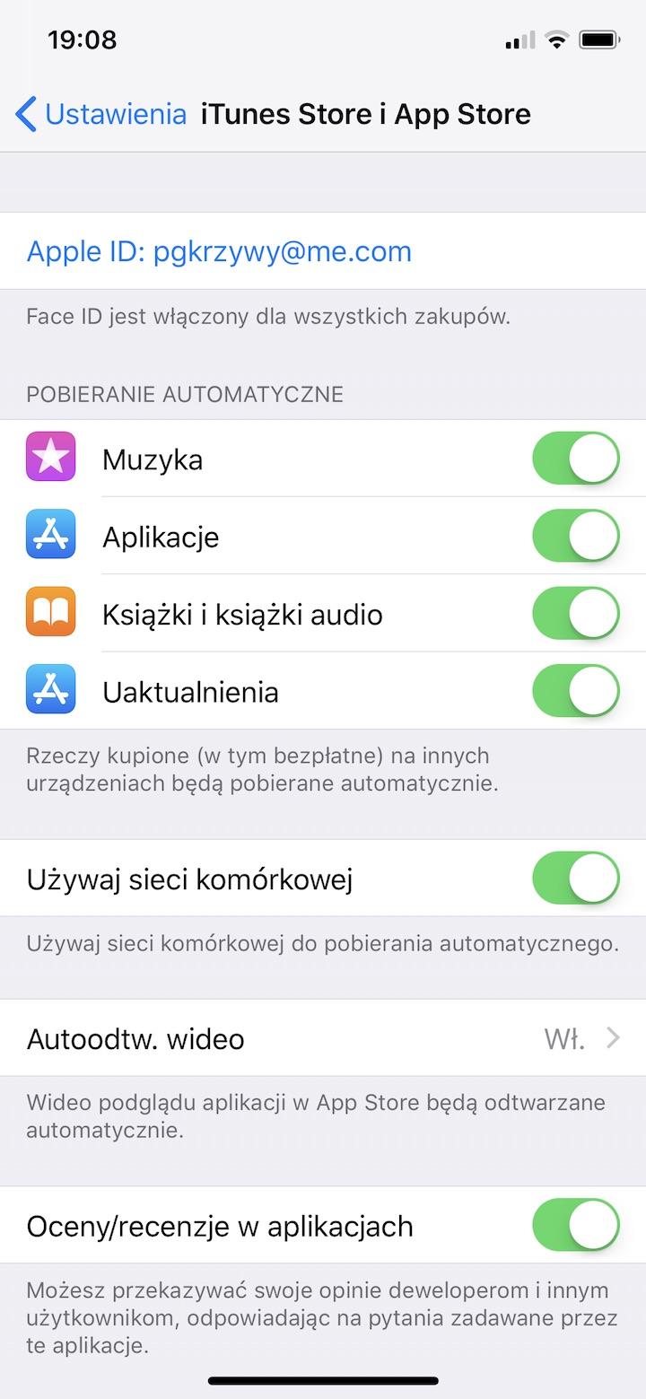 automatyczne aktualizacje aplikacji jak wyłączyć iphone ios