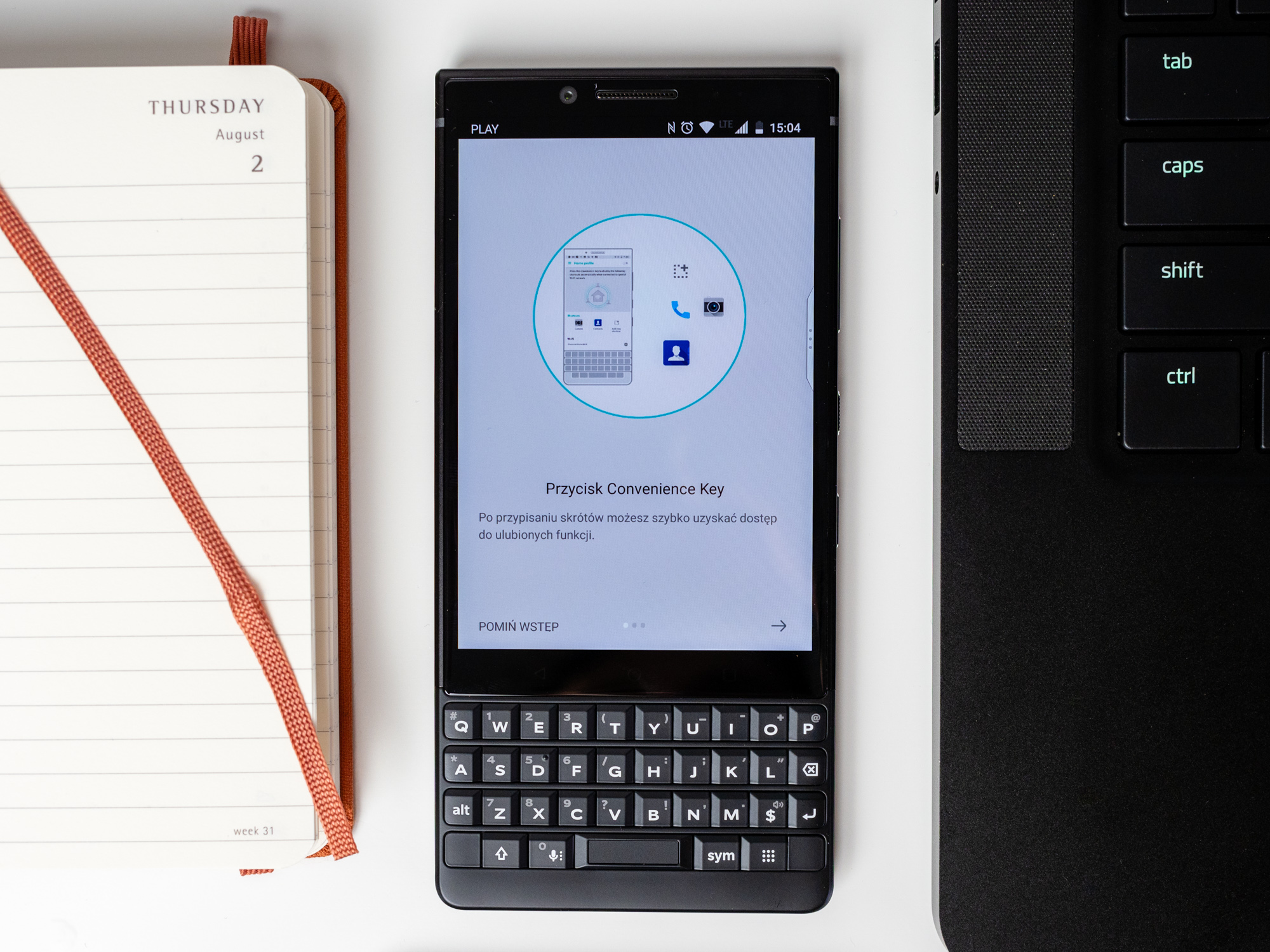 BlackBerry Key2 - convinience key.