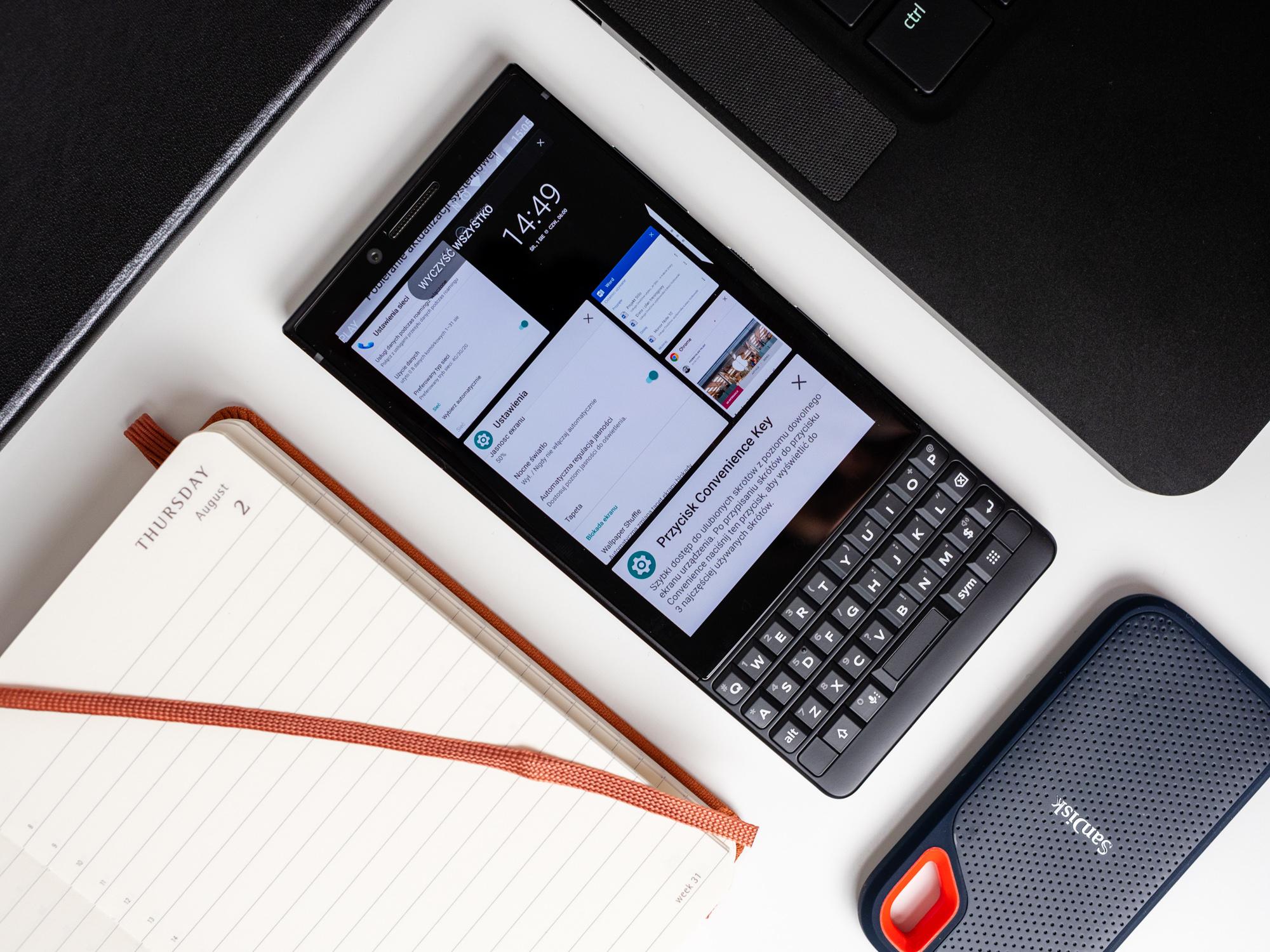 BlackBerry Key2 - menu aplikacji.