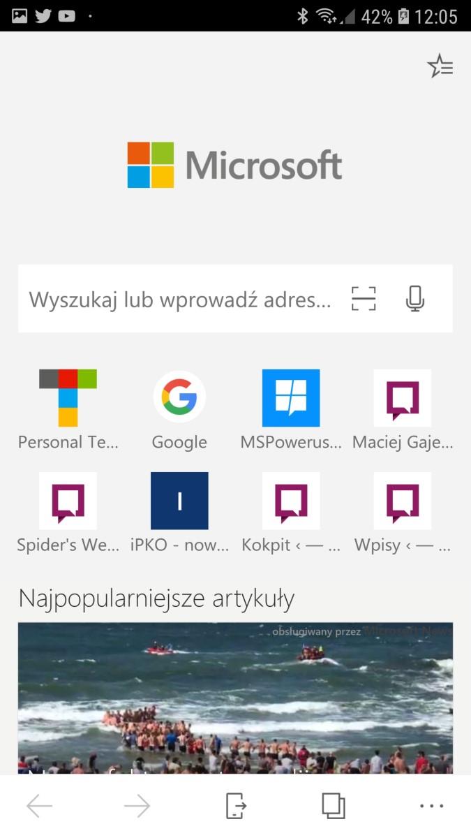Edge na Androida