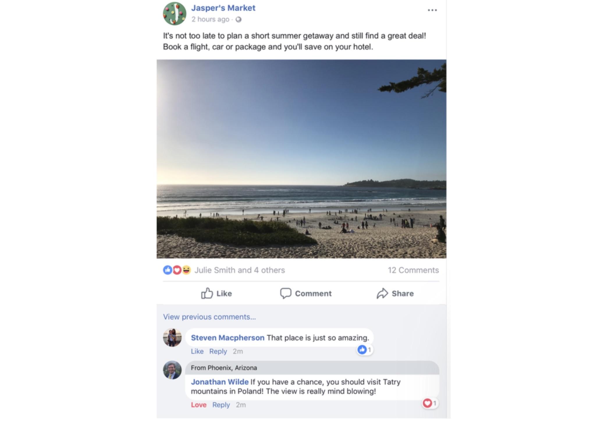 Facebook rzeczy wspólne
