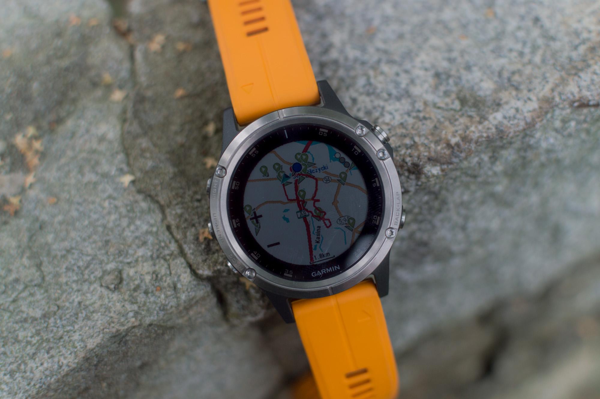 Garmin fenix 5 Plus - mapy w zegarku