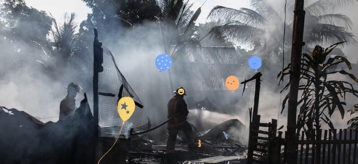 Trzęsienie ziemii? Super! – oceniły algorytmy Facebooka i wypuściły z siebie moc balonów i konfetti
