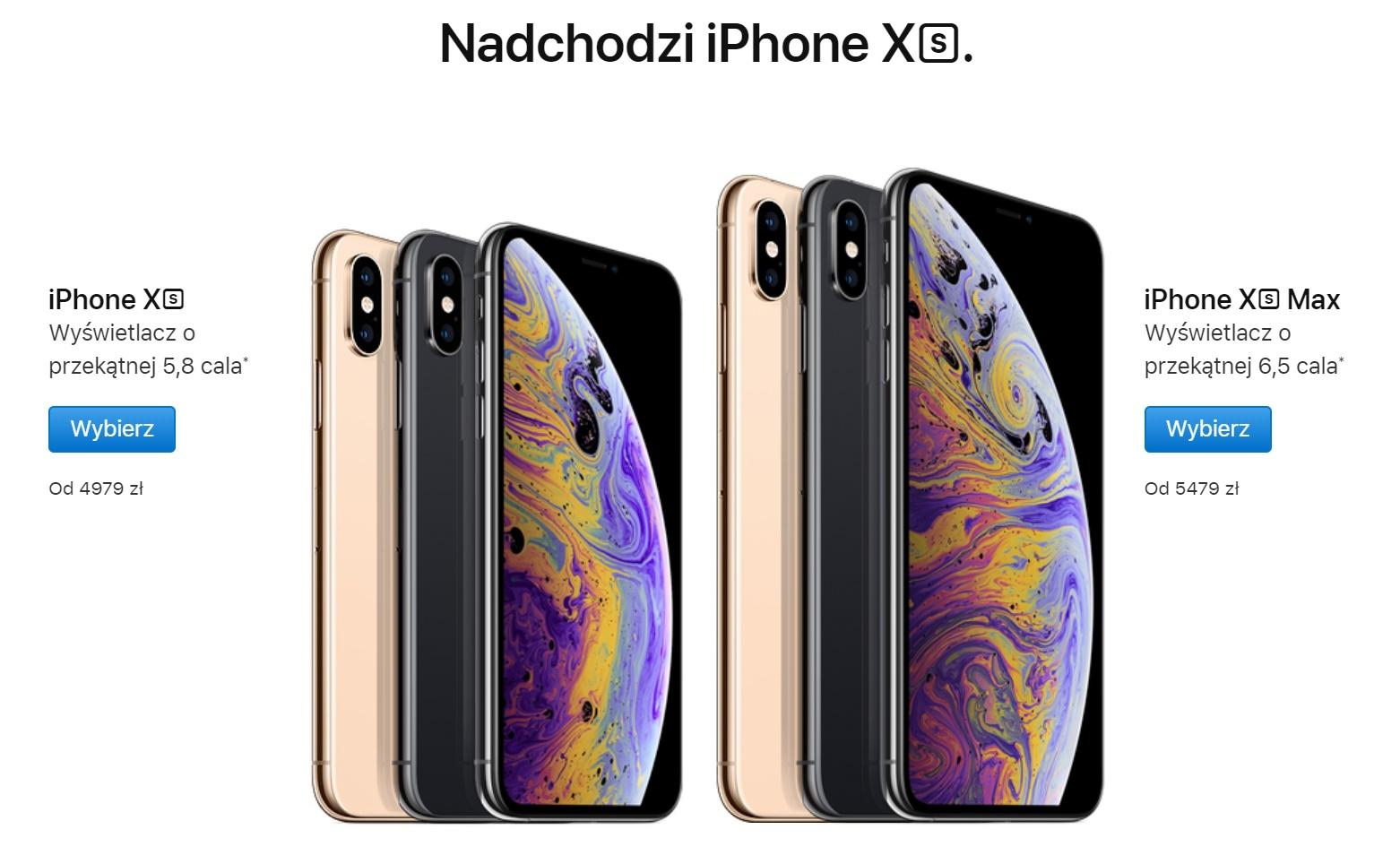 iPhone Xs i iPhone Xs Max - cena