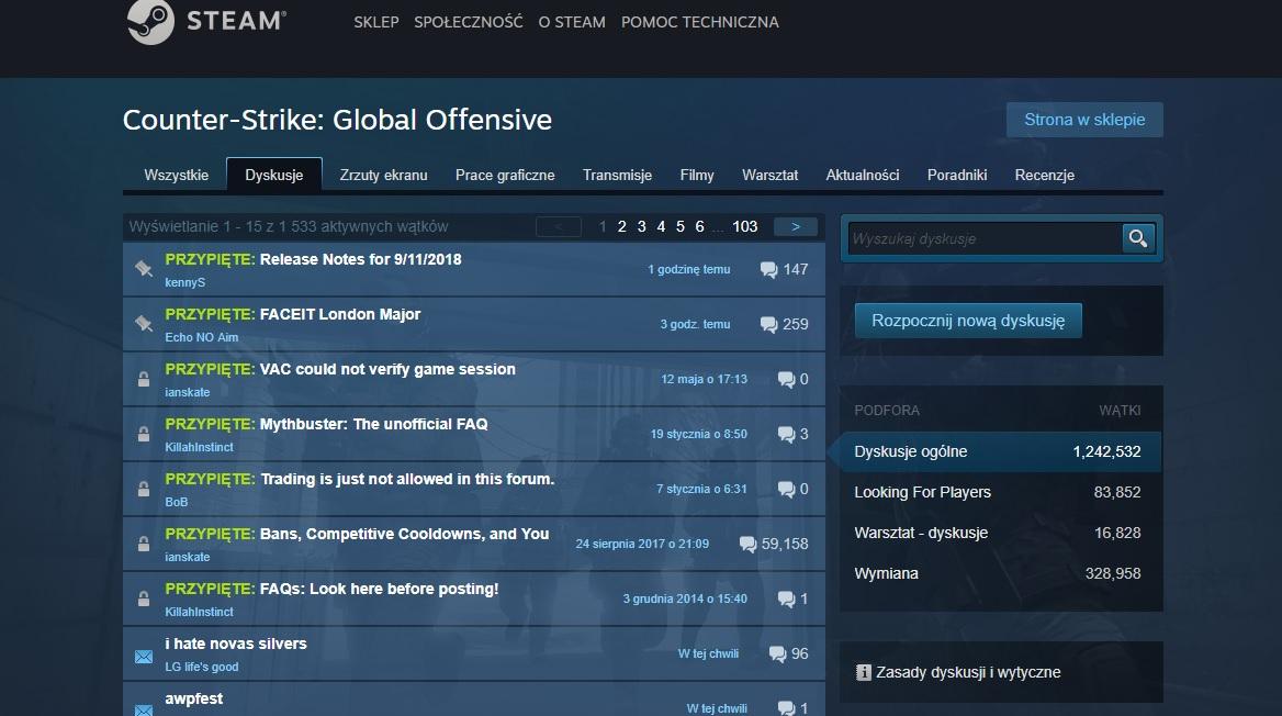 Valve nie interesuje się treścią gier, ale postów na Steamie już tak