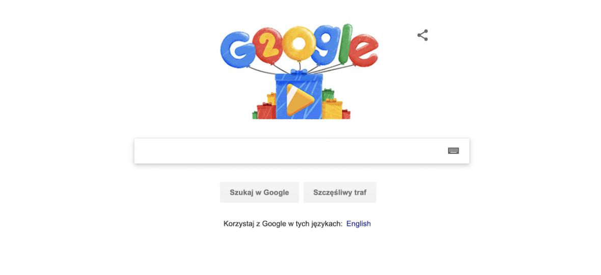 Google Doodle świętuje 20. urodziny. Gdyby chcieć wystawić je wszystkie, zajęłyby spore muzeum