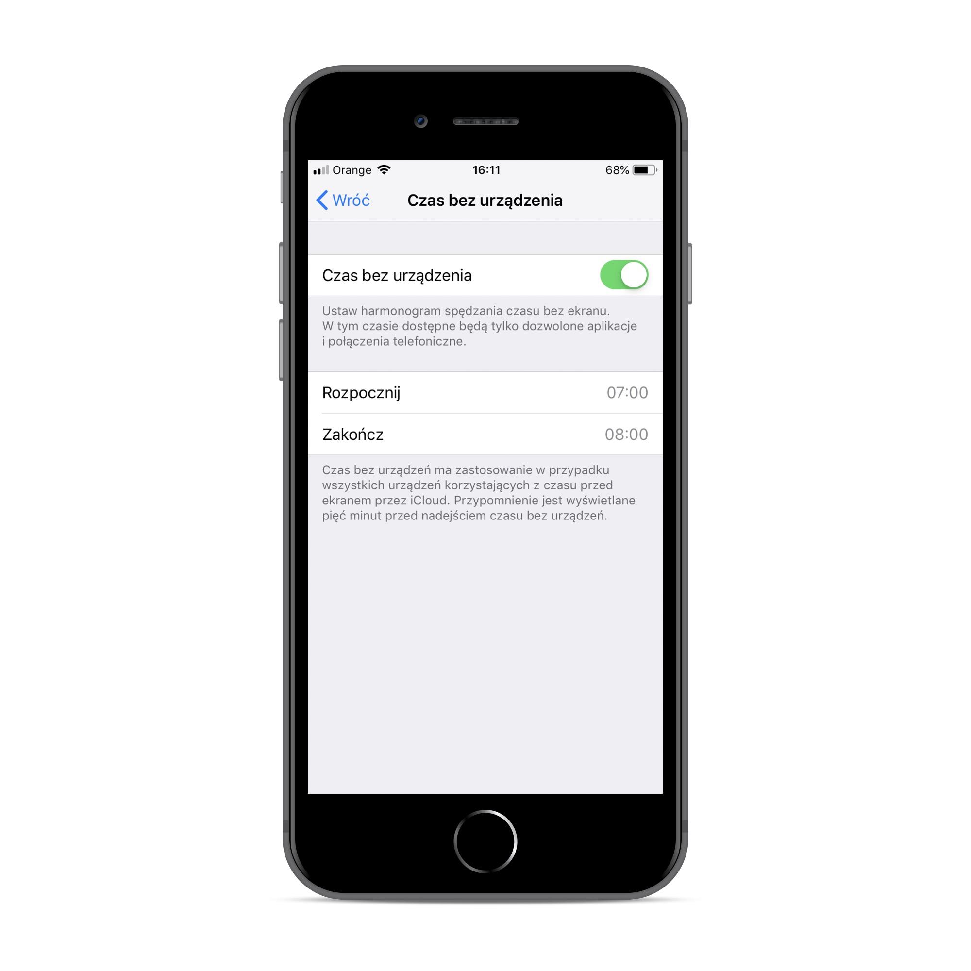 Funkcja Czas przed ekranem w iOS 12